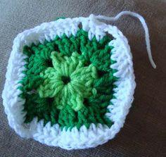 Crochet paso a paso: 1) Cuadrado a crochet Rose, Manta Crochet, Crochet Bebe, Flowers, Afghans, Tinkerbell, Scrappy Quilts, Crochet Square Patterns, Crochet Granny Squares