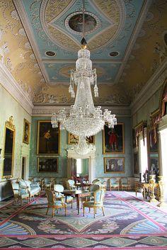 Saltram House, Devon, England - The Saloon, or Great Drawing Room, at Saltram designed by Robert Adam in 1768.