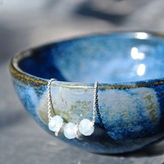 FÄBODA bracelet // aquamarine sterling silver by MagpieBlues, €18.00