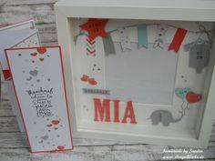 Willkommen kleine Mia - Stempelklecks - Stempeln, Stanzen und Basteln mit Stampin' Up! -