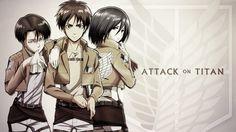 levi attack on titan deviantart | Attack on Titan - Eren/Levi/Mikasa by Welterz