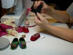Make Doll Shoes with Decorative Flowers