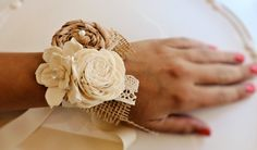 Wedding Corsage Made to Order-Wedding Flowers Mother of the Bride Wedding Party Flowers Rustic Wedding Country Chic Wedding. $22.00, via Etsy.