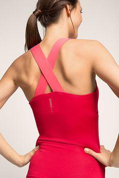 Esprit / functional jersey sports top + bra
