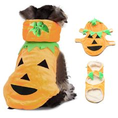 Halloween Pumpkin Style Pet Puppy Dog Cat Clothes Hoodie Costumes Apparel Coat          Feature 1.Halloween pumpkin pet dog cloth. 2.Pumpkin appearance design, cute and attractive. 3.Give your dog a different style, make it feel happy. 4.A perfect gift for Halloween...