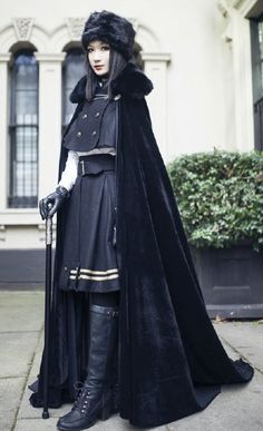 Yolanda -In the Name of the Father- Military Lolita Cape and Skirt Set