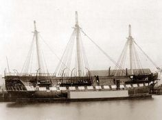"""U.S.S.. CONSTITUTION - known as ..""""Old Ironsides""""...now a museum  in Boston Massachusetts harbor."""