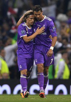 Luka Modric, Cristiano Ronaldo. Juventus v Real Madrid, 2017.06.03