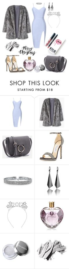 """New Year Outfit"" by saraprifti ❤ liked on Polyvore featuring MANGO, Jimmy Choo, Bling Jewelry, Vera Wang, Kylie Cosmetics and Bobbi Brown Cosmetics"
