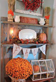 "Cobblestone Farms: My ""Fall"" Kitchen Mantel..."