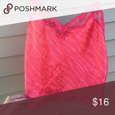 Vs tank Lace around the top and the other is a cheetah print! Make an offer, no signs of wear PINK Victoria's Secret Tops