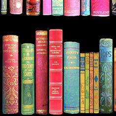 Vintage Library Fabric  Antique Books Vintage Bookshelf /