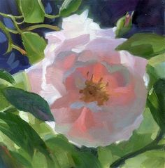 """Daily Paintworks - """"Pink rose"""" - Original Fine Art for Sale - © Kathy Weber. Abstract Flowers, Watercolor Flowers, Wow Art, Still Life Art, Arte Floral, Kathy Weber, Gouache, Fine Art Gallery, Painting Inspiration"""