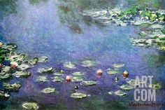 Waterlilies Poster by Claude Monet at Art.com