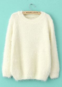 To find out about the Beige Long Sleeve Shaggy Mohair Loose Sweater at SHEIN, part of our latest Sweaters ready to shop online today! Mohair Sweater, Loose Sweater, Long Sleeve Sweater, Fluffy Sweater, Comfy Sweater, Cream Sweater, Sweater Shop, Sweater Weather, Sweater Cardigan