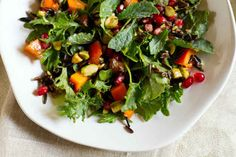 Pomegranate, Persimmon, and Pistachio Wild Rice Salad
