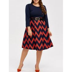 SHARE & Get it FREE | Plus Size Zigzag Fit and Flare DressFor Fashion Lovers only:80,000+ Items·FREE SHIPPING Join Dresslily: Get YOUR $50 NOW!