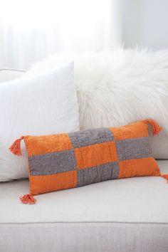 Boho Modern Patchwork Pillow | A Beautiful Mess | Bloglovin'