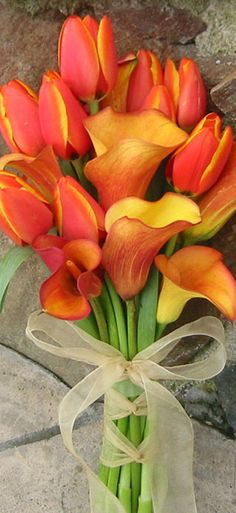 calla lily and tulip wedding bouquet - Google Search