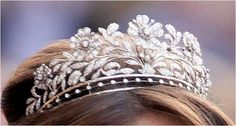 The Princess Dagmar Floral Tiara  ~ recently it has become the signature diadem of Princess Marie of Denmark