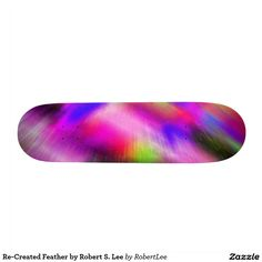 Re-Created Feather by #Robert #S. #Lee #skateboard #board #decks #skater #design #colors #customizable #re-created