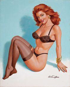 pinterest.com/fra411 #vintage #pinup - Artwork by Arthur Saron Sarnoff (1912-2000)