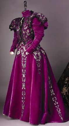 Image result for pink purple brocade victorian gown