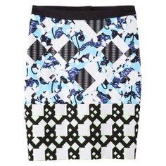Peter Pilotto for Target - Light Blue Floral Geo Skirt