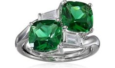 """CZ by Kenneth Jay Lane """"Trend"""" 6cttw Double Cushion-Cut Cubic Zirconia Ring"""