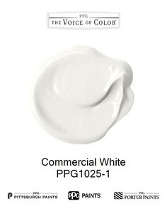 Commercial White is a part of the Off-Whites collection by PPG Voice of Color®. Browse this paint color and more collections for more paint color inspiration. Get this paint color tinted in PPG PITTSBURGH PAINTS®, PPG PORTER PAINTS® & or PPG PAINTS™ products.