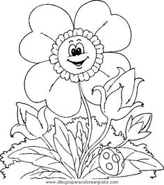 Flowers Coloring Page | Free Flowers Online Coloring | Mmm good ...