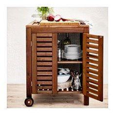 IKEA - ÄPPLARÖ / KLASEN, Storage cabinet ****THIS would make a beautiful floating kitchen island or cocktail cart