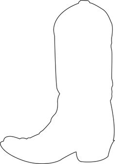 Cowboy boot pattern. Use the printable outline for crafts ...