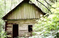 I love finding an old cabin or building in the woods! I need to check out this website more, too.