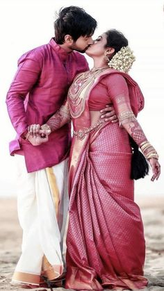 Indian Wedding Couple Photography, Wedding Couple Photos, Wedding Photography Poses, Wedding Couples, Saree Photoshoot, Bridal Photoshoot, Photoshoot Ideas, Wedding Silk Saree, Most Beautiful Indian Actress