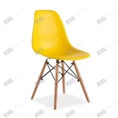 Jedálenská stolička ENZO - buk/žltá