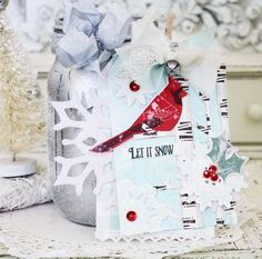 Let It Snow Tag by Melissa Phillips for Papertrey Ink (November 2015)