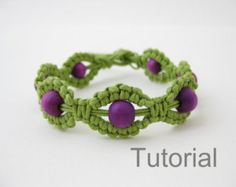 Bonus pattern macrame bracelet tutorial with por Knotonlyknots