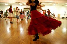 Contra dancing in Wilder Main. Contra Dancing, Social Dance, Folk Dance, Dance Skirts, Ballet Skirt, Learning, Tango, Organizers, Dancers