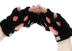 Cat Toys For Kids - Starsource Cat Claw Paw Winter Plush Half Finger Gloves Mitten For Girls >>> Read more at the image link. (This is an affiliate link)