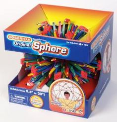 Original Hoberman Sphere--Rainbow Expands from to No assembly required Includes 21 Cool Things To Do game sheet Includes a pully that can be attached to the ceiling allowing you to open and close your sphere. Rainbow Colors, Bright Colors, Toy Chest, Gifts For Kids, Cool Stuff, Stuff To Buy, Kid Stuff, Things That Bounce, Best Gifts