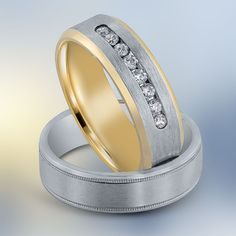 A wedding band with diamonds, or without diamonds - it's your choice!