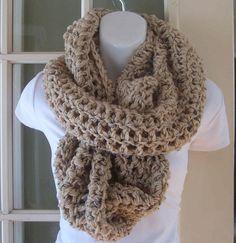 Oatmeal infinity cowl scarf neckwarmer by MatsonDesignStudio, $24.00