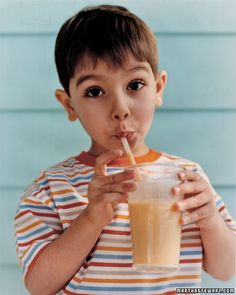 Peach Shakes. This fruit-filled smoothie is a good source of protein for kids and babies 1 year old and older