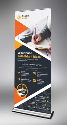 Store Roll Up Banner Template. This elegant and well organized corporate roll-up banner template is in PSD format. The Roll up banner template Banner Template, Flyer Template, Web Banner, Banners, Best Resume Template, Brochure Template, Rollup Banner Design, Standing Banner Design, Standee Design
