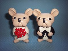 French bulldog cake toppers!