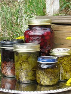 jars of cordials and tinctures