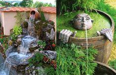 10 idei de fantani arteziene pentru gradina - Case practice Design Case, Garden Sculpture, Diy And Crafts, Bird, Outdoor Decor, Orice, Home Decor, Crochet, Decoration Home