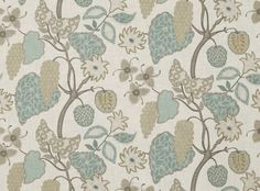 Indienne Spearmint - Indienne Interior Color Schemes, Fabric Blinds, Pillow Fabric, Cool Fabric, Farmhouse Chic, Fabric Wallpaper, Textile Patterns, Fabric Decor, Accent Colors