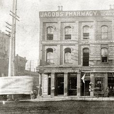 Rare photo of Jacobs' Pharmacy, where the first Coca-Cola fountain drink was sold on May 8, 1886.